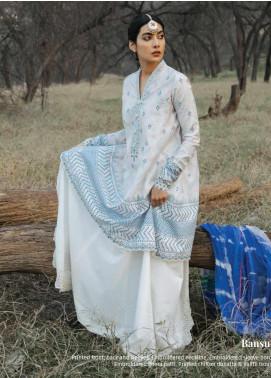 Zara Shahjahan Embroidered Lawn Unstitched 3 Piece Suit ZSJ20GL BANSURI-B - Spring / Summer Collection
