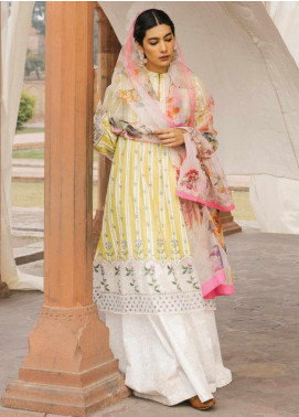 Zara Shahjahan Embroidered Lawn Unstitched 3 Piece Suit ZSJ20GL JEHANARA-A - Spring / Summer Collection
