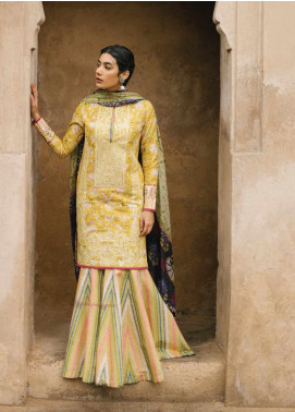 Zara Shahjahan Embroidered Lawn Unstitched 3 Piece Suit ZSJ20GL MAHIN-A - Spring / Summer Collection