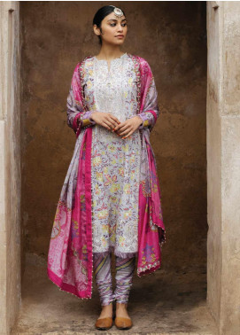 Zara Shahjahan Embroidered Lawn Unstitched 3 Piece Suit ZSJ20GL MAHIN-B - Spring / Summer Collection