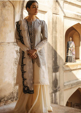 Zara Shahjahan Embroidered Jacquard Unstitched 3 Piece Suit ZSJ20GL MUMTAZ-B - Spring / Summer Collection