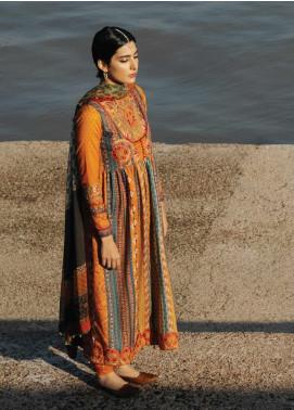 Zara Shahjahan Embroidered Lawn Unstitched 3 Piece Suit ZSJ20GL ROSHANARA-A - Spring / Summer Collection