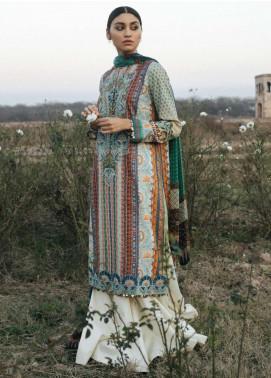 Zara Shahjahan Embroidered Lawn Unstitched 3 Piece Suit ZSJ20GL ROSHANARA-B - Spring / Summer Collection
