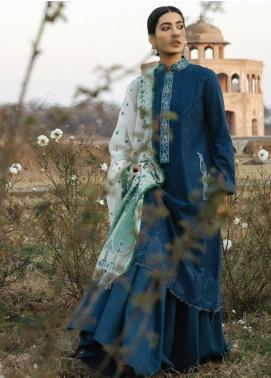Zara Shahjahan Embroidered Schiffli Unstitched 3 Piece Suit ZSJ20GL SAHIBO-A - Spring / Summer Collection