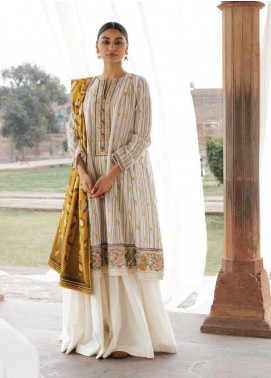 Zara Shahjahan Embroidered Jacquard Unstitched 3 Piece Suit ZSJ20GL ZAREEN-A - Spring / Summer Collection