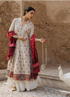 Zara Shahjahan Embroidered Jacquard Unstitched 3 Piece Suit ZSJ20GL ZAREEN-B - Spring / Summer Collection