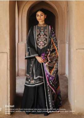 Zara Shahjahan Embroidered Lawn Unstitched 3 Piece Suit ZSJ20GL ZEENAT-A - Spring / Summer Collection