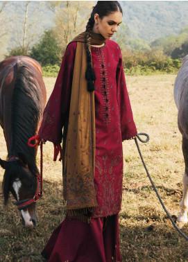 Zara Shahjahan Embroidered Cotton Satin Unstitched 3 Piece Suit ZSJ20W 02 Naaz - Winter Collection