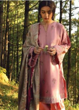 Zara Shahjahan Embroidered Karandi Unstitched 3 Piece Suit ZS18W ZARPASH - Winter Shawl Collection
