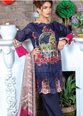 Zara Ali by Magns Textiles Embroidered Lawn Unstitched 3 Piece Suit ZRA19F 10B - Festive Collection