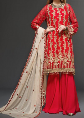 Zarif Embroidered Chiffon Unstitched 3 Piece Suit ZF20C 06 - Luxury Collection