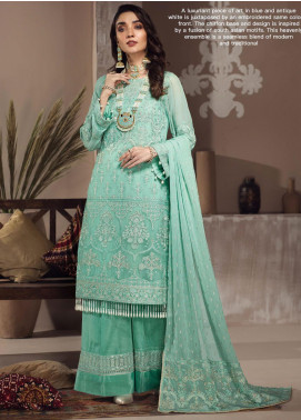 Zarif Embroidered Chiffon Unstitched 3 Piece Suit ZF20MG 08 AFROZE - Luxury Collection