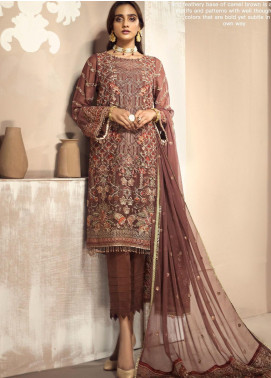 Zarif Embroidered Chiffon Unstitched 3 Piece Suit ZF20MG 09 DASTOOR - Luxury Collection
