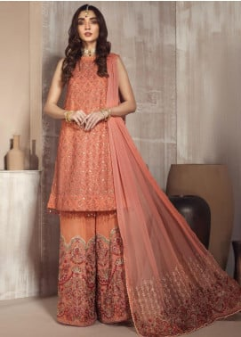 Zarif Embroidered Chiffon Unstitched 3 Piece Suit ZF20MG 10 AFSANAY - Luxury Collection