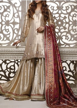 Fayon Embroidered Net Stitched 3 Piece Suit FN-Z141 Madallion