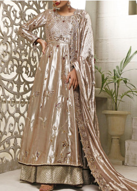 Fayon Embroidered Tissue Net Stitched 3 Piece Suit FN-Z143 Venza