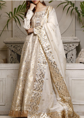 Fayon Embroidered Cotton Net Stitched 3 Piece Suit FN-Z148 Nadah