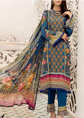 Zarki's by Riaz Arts Printed Viscose Unstitched 3 Piece Suit RA20Z 01 - Winter Collection