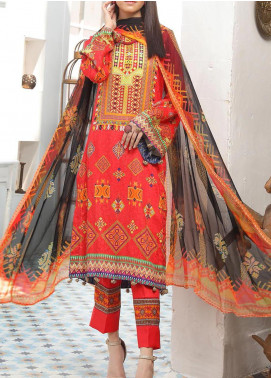 Zarki's by Riaz Arts Printed Viscose Unstitched 3 Piece Suit RA20Z 08 - Winter Collection