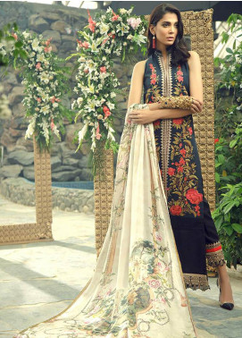 Zarqash Embroidered Swiss Voile Unstitched 3 Piece Suit ZRQ19L 1A - Festive Collection