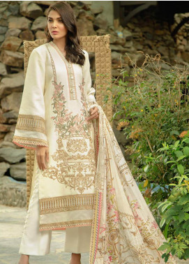 Zarqash Embroidered Jacquard Unstitched 3 Piece Suit ZRQ19L 2A - Festive Collection
