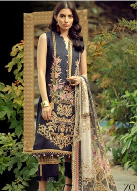 Zarqash Embroidered Jacquard Unstitched 3 Piece Suit ZRQ19L 2B - Festive Collection