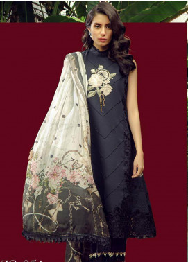 Zarqash Embroidered Swiss Voile Unstitched 3 Piece Suit ZRQ19L 5A - Festive Collection