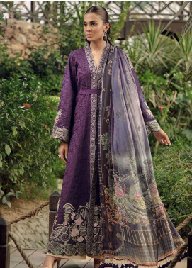 Zarqash Embroidered Jacquard Unstitched 3 Piece Suit ZRQ19L 6B - Festive Collection