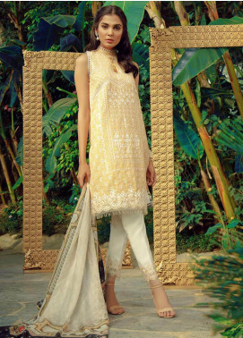Zarqash Embroidered Swiss Voile Unstitched 3 Piece Suit ZRQ19L 7A - Festive Collection