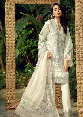 Zarqash Embroidered Swiss Voile Unstitched 3 Piece Suit ZRQ19L 7B - Festive Collection