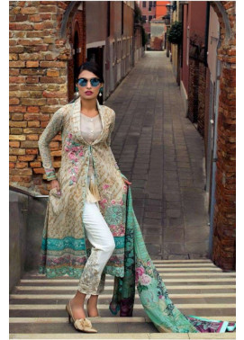 Zainab Chottani Embroidered Lawn Unstitched 3 Piece Suit ZC17L 1B