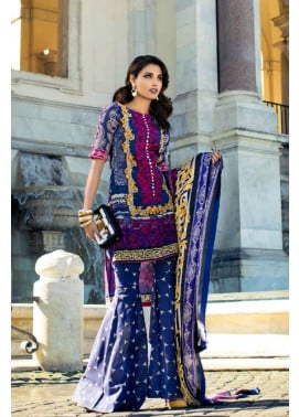 Zainab Chottani Embroidered Lawn Unstitched 3 Piece Suit ZC17L 3A