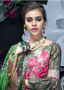 Zainab Chottani Embroidered Lawn Unstitched 3 Piece Suit ZC18L 8A - Spring / Summer Collection