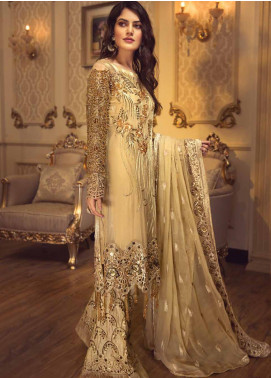 Zebtan Embroidered Chiffon Unstitched 3 Piece Suit ZBT19-C5 01 - Luxury Collection