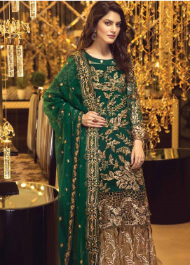 Zebtan Embroidered Chiffon Unstitched 3 Piece Suit ZBT19-C5 02 - Luxury Collection