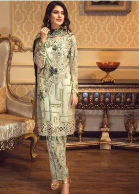 Zebtan Embroidered Chiffon Unstitched 3 Piece Suit ZBT19-C5 03 - Luxury Collection