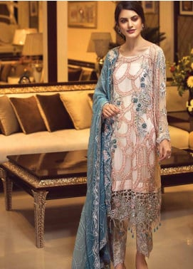 Zebtan Embroidered Chiffon Unstitched 3 Piece Suit ZBT19-C5 06 - Luxury Collection