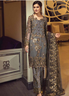 Zebtan Embroidered Chiffon Unstitched 3 Piece Suit ZBT19-C5 07 - Luxury Collection