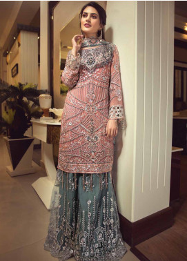 Zebtan Embroidered Chiffon Unstitched 3 Piece Suit ZBT19-C5 08 - Luxury Collection