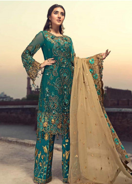 Zebtan Embroidered Chiffon Unstitched 3 Piece Suit ZBT19-C6 01 - Luxury Collection