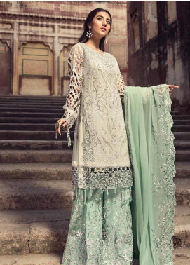 Zebtan Embroidered Chiffon Unstitched 3 Piece Suit ZBT19-C6 02 - Luxury Collection