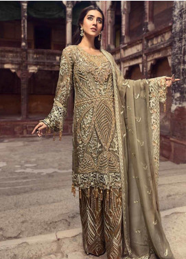 Zebtan Embroidered Chiffon Unstitched 3 Piece Suit ZBT19-C6 03 - Luxury Collection