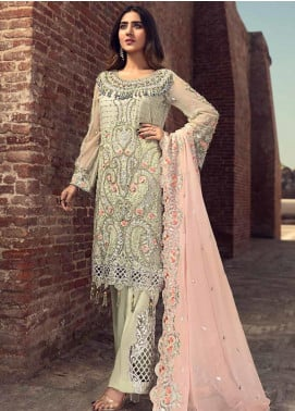 Zebtan Embroidered Chiffon Unstitched 3 Piece Suit ZBT19-C6 05 - Luxury Collection
