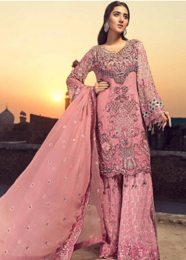 Zebtan Embroidered Chiffon Unstitched 3 Piece Suit ZBT19-C6 06 - Luxury Collection