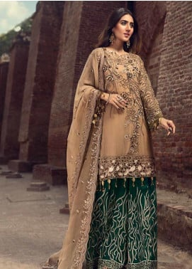 Zebtan Embroidered Chiffon Unstitched 3 Piece Suit ZBT19-C6 07 - Luxury Collection