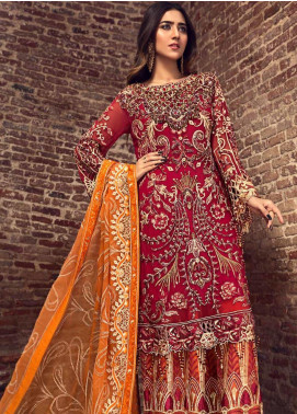 Zebtan Embroidered Chiffon Unstitched 3 Piece Suit ZBT19-C6 08 - Luxury Collection