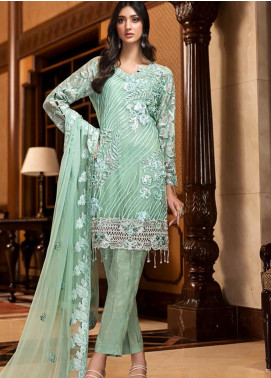 Zebtan Embroidered Chiffon Unstitched 3 Piece Suit Z20ZBT 02 - Luxury Collection