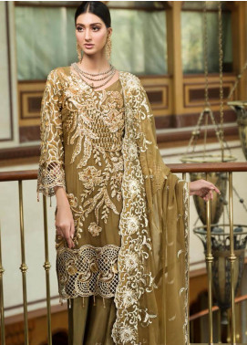 Zebtan Embroidered Chiffon Unstitched 3 Piece Suit Z20ZBT 05 - Luxury Collection