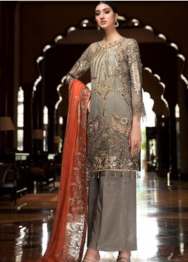 Zebtan Embroidered Chiffon Unstitched 3 Piece Suit Z20ZBT 06 - Luxury Collection