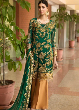 Zebtan Embroidered Chiffon Unstitched 3 Piece Suit Z20ZBT 07 - Luxury Collection